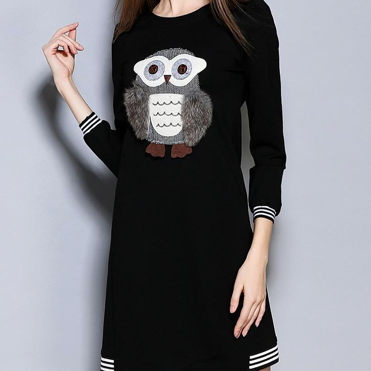 Owl Plush Decorative Dress