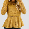 Long-sleeved Lace Ruffled Blouse