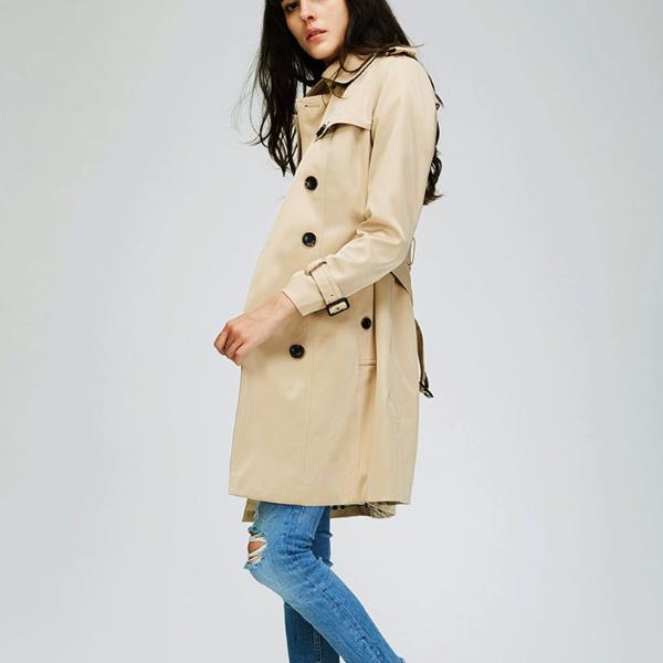 Classic Double Breasted Waterproof Trench Coat