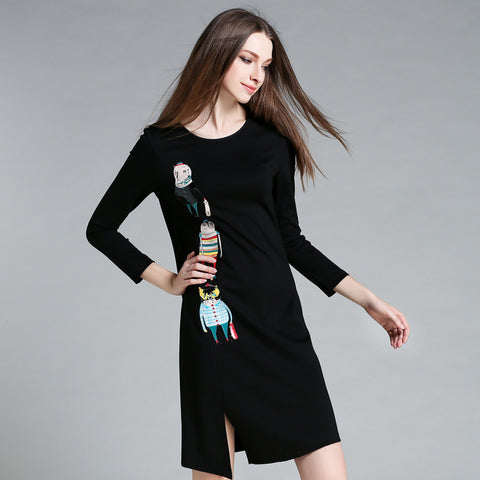 High Neck Long Sleeve Party Bodycon