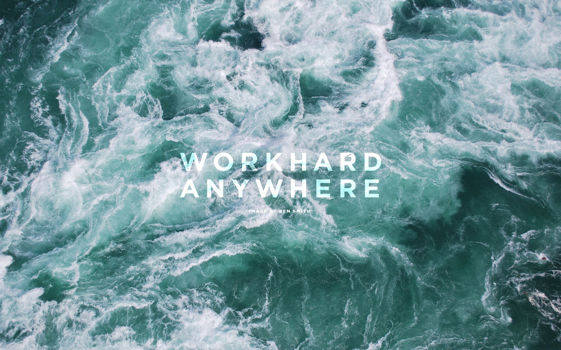 Work Hard Anywhere White Stairs Wallpaper