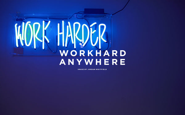 Work Harder Neon Wallpaper