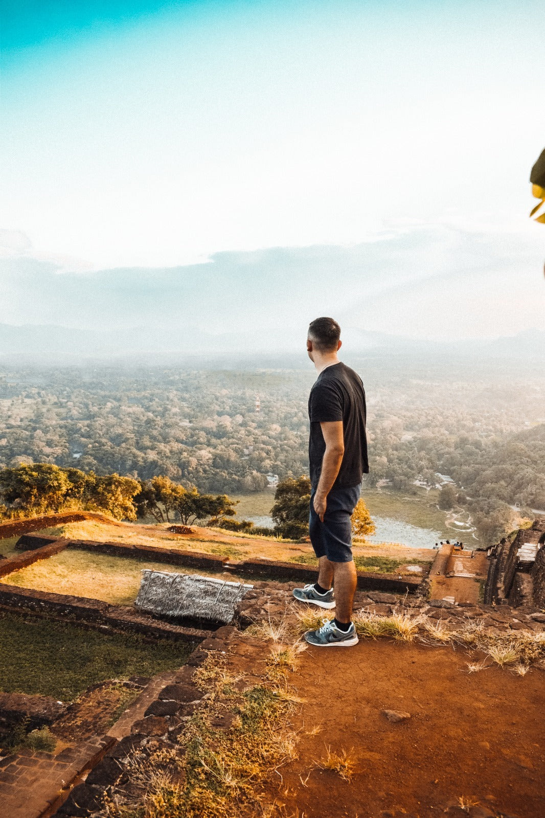 Man looking over Los Angeles from view