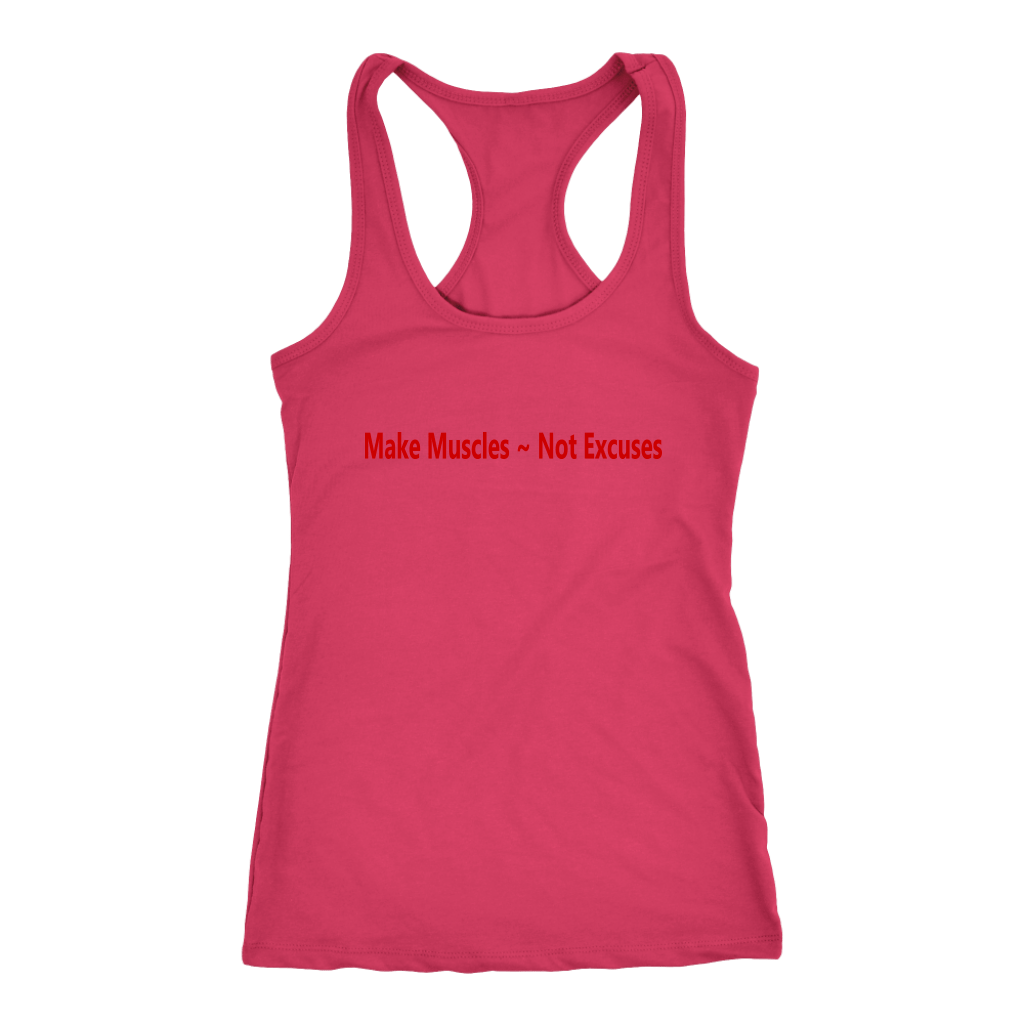 Spartan Fit Women's Pink Racerback tank top front with red letters
