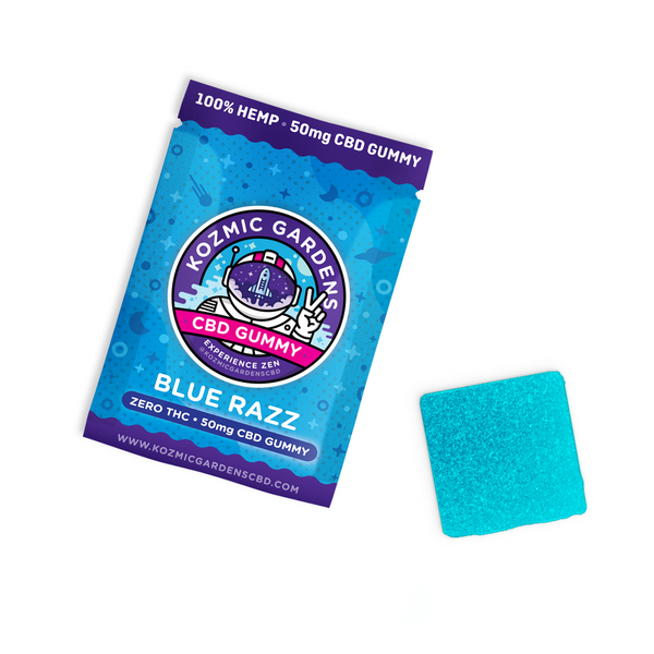 Kozmic Blue Razz 50mg Gummy