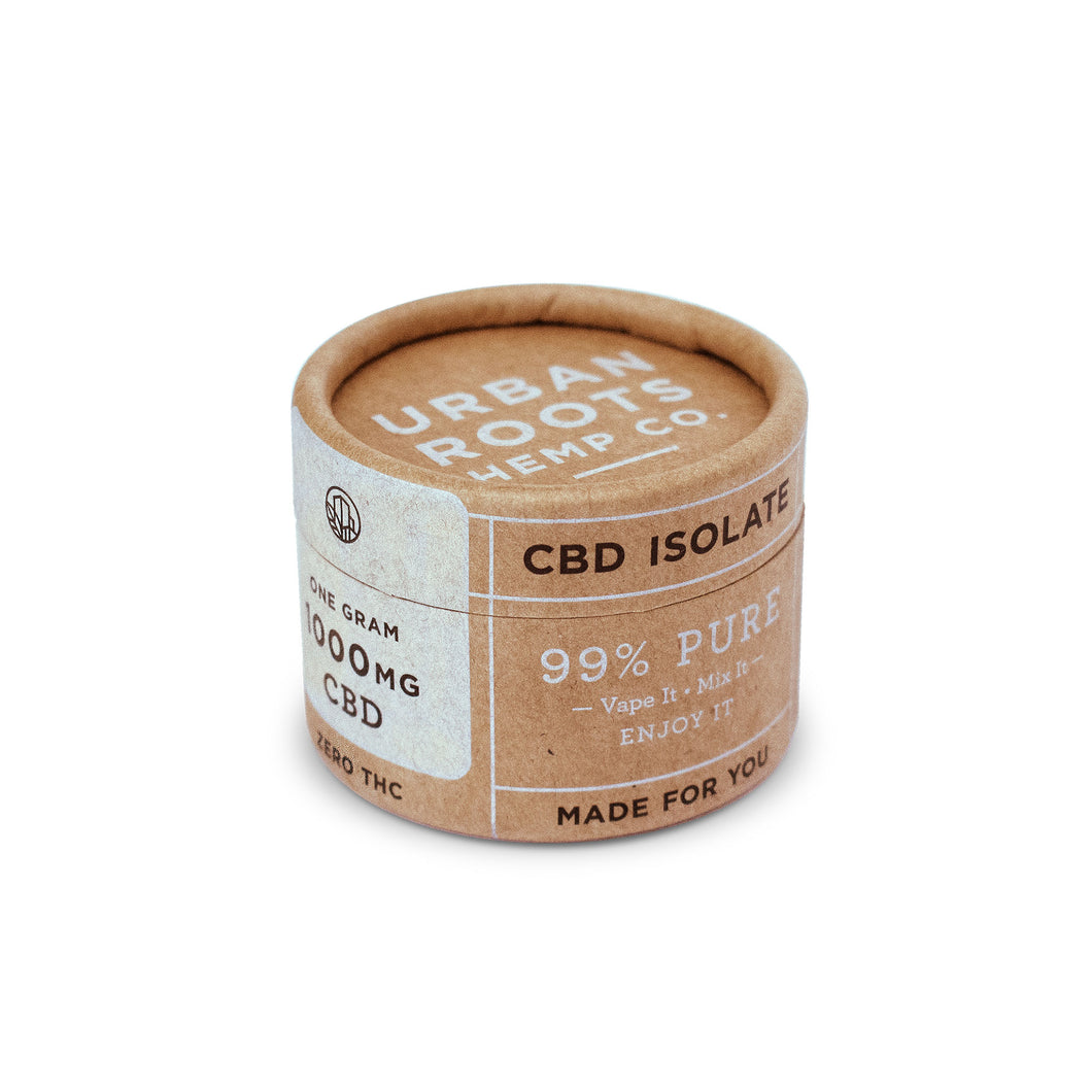 Hemp-derived Isolate is a 99% pure powder containing 990mg-1000mg CBD per gram.