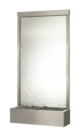 Bluworld Grande Waterwall Floor Fountain with Stainless Steel and Mirror