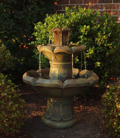 Henri Studio Montreux 2-Tier Outdoor Floor Fountain