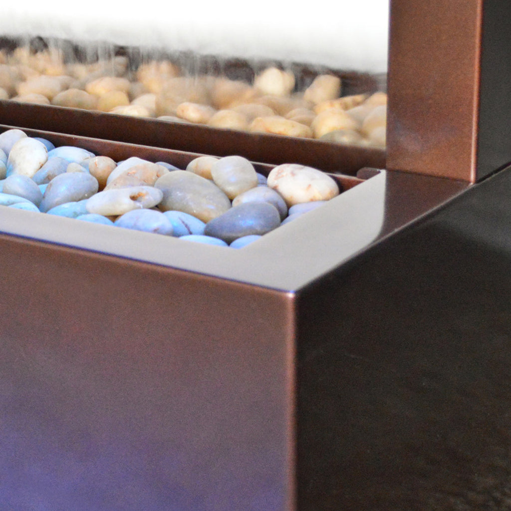 Bluworld Gardenfall Dark Copper Floor Fountain with Mirror
