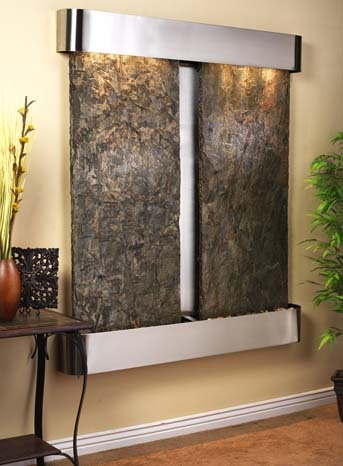 Adagio Cottonwood Falls Wall Fountain with Slate