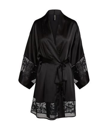 Silk & Embroid Lace Robe
