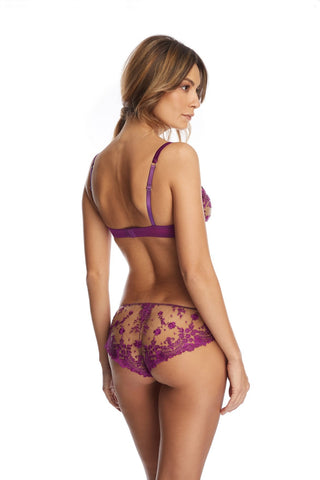 Embroidered Lace Thong
