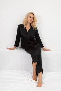 Classic Silk Cropped Pajama Set