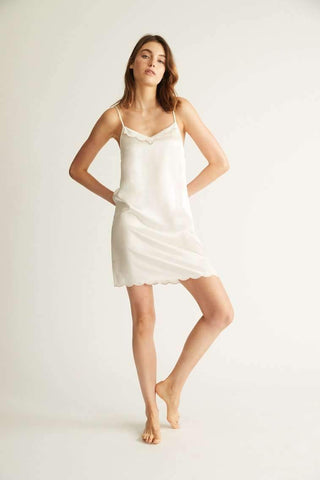 Silk Chemise With Trim