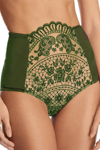 Embroidered High Brief