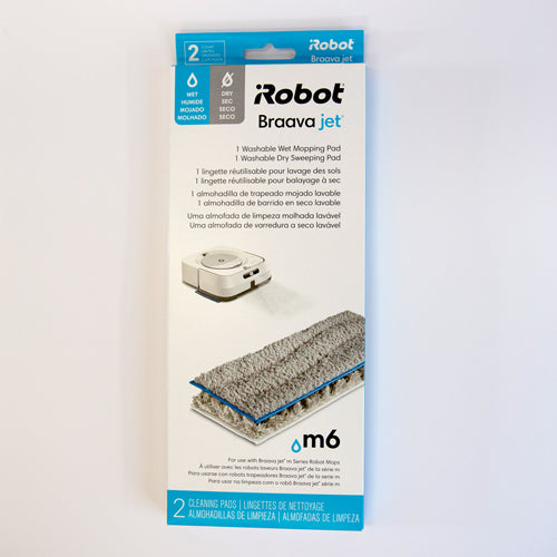 iRobot Braava Jet M6 Washable Wet Mopping Pads and Dry Sweeping Pads - 2 pack - Robot Specialist