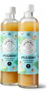 FortuneBelly Apple & Coconut Vinegar Drink Concentrate - Double Pack