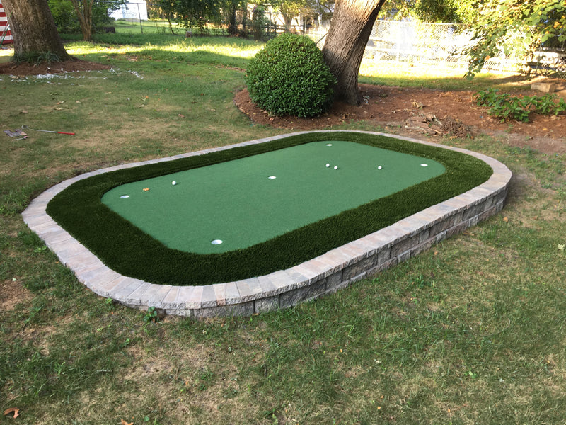 How to DIY A Stone-Bordered Backyard Putting Green (on the CHEAP!)