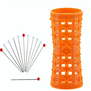 12 Metal Rollers Pins + Orange HGR 22mm/0.87in – Pack of 12