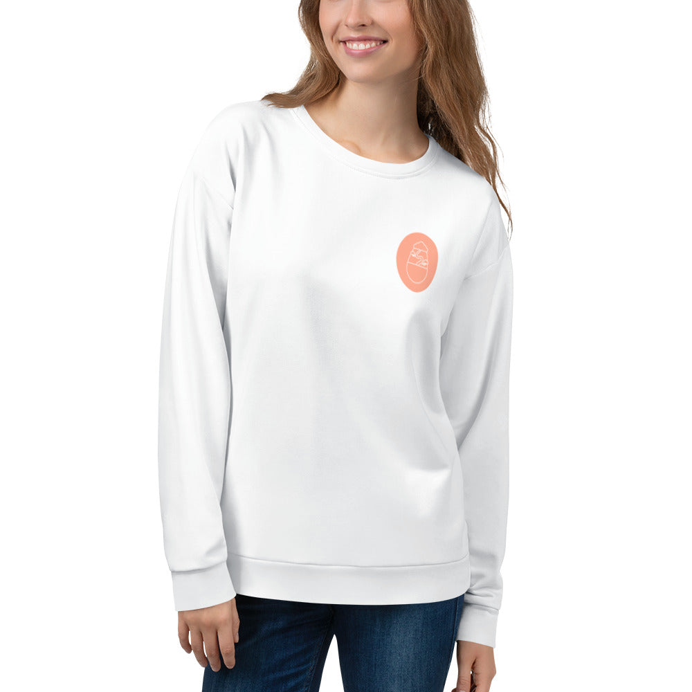 'Bonsai Classic White Sweater'