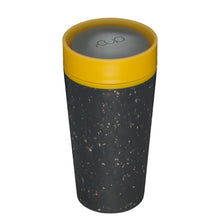 Load image into Gallery viewer, rCup Reusable Coffee Cup 12oz (340ml)- Black and Yellow