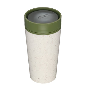 rCup Reusable Coffee Cup 12oz (340ml)- Cream and Green