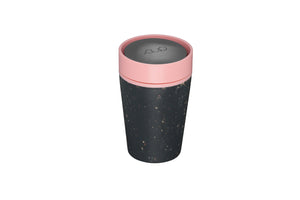 rCup Reusable Coffee Cup 8oz (227ml)- Black and Pink
