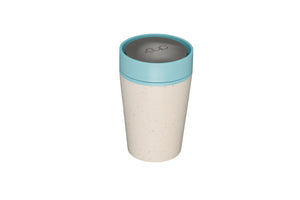 rCup Reusable Coffee Cup 8oz (227ml)- Cream and Teal