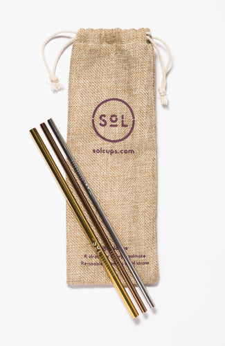 Sol Stainless Steel Straws-  Set of 3
