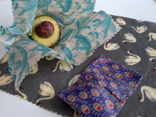 Load image into Gallery viewer, Beeswax Food Wraps-Set of 3