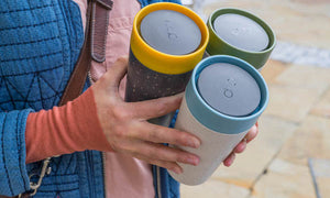 rCup Reusable Coffee Cup 12oz (340ml)- Cream and Teal