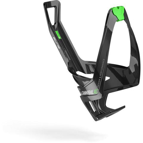 Elite Cannibal XC bottle cage gloss black / green