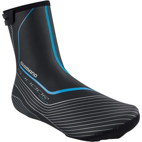 Shimano Clothing S3000R NPU+ 3 mm Neoprene overshoe, with BCF and PU coating, Black small