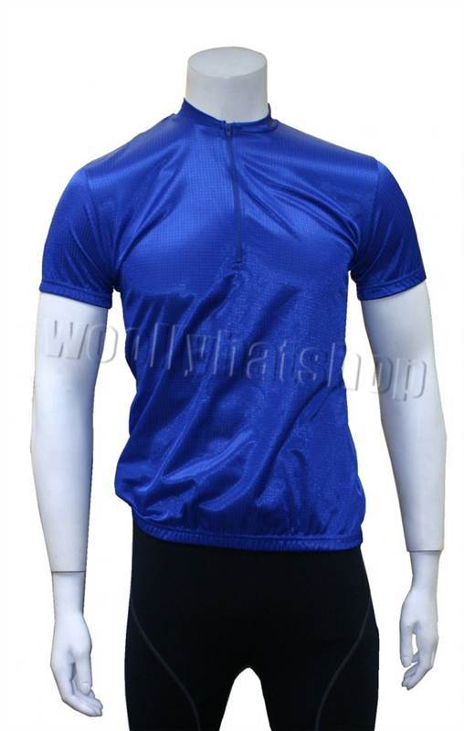 Outeredge MENS Blue Short Sleeve Cycling Jersey SMALL