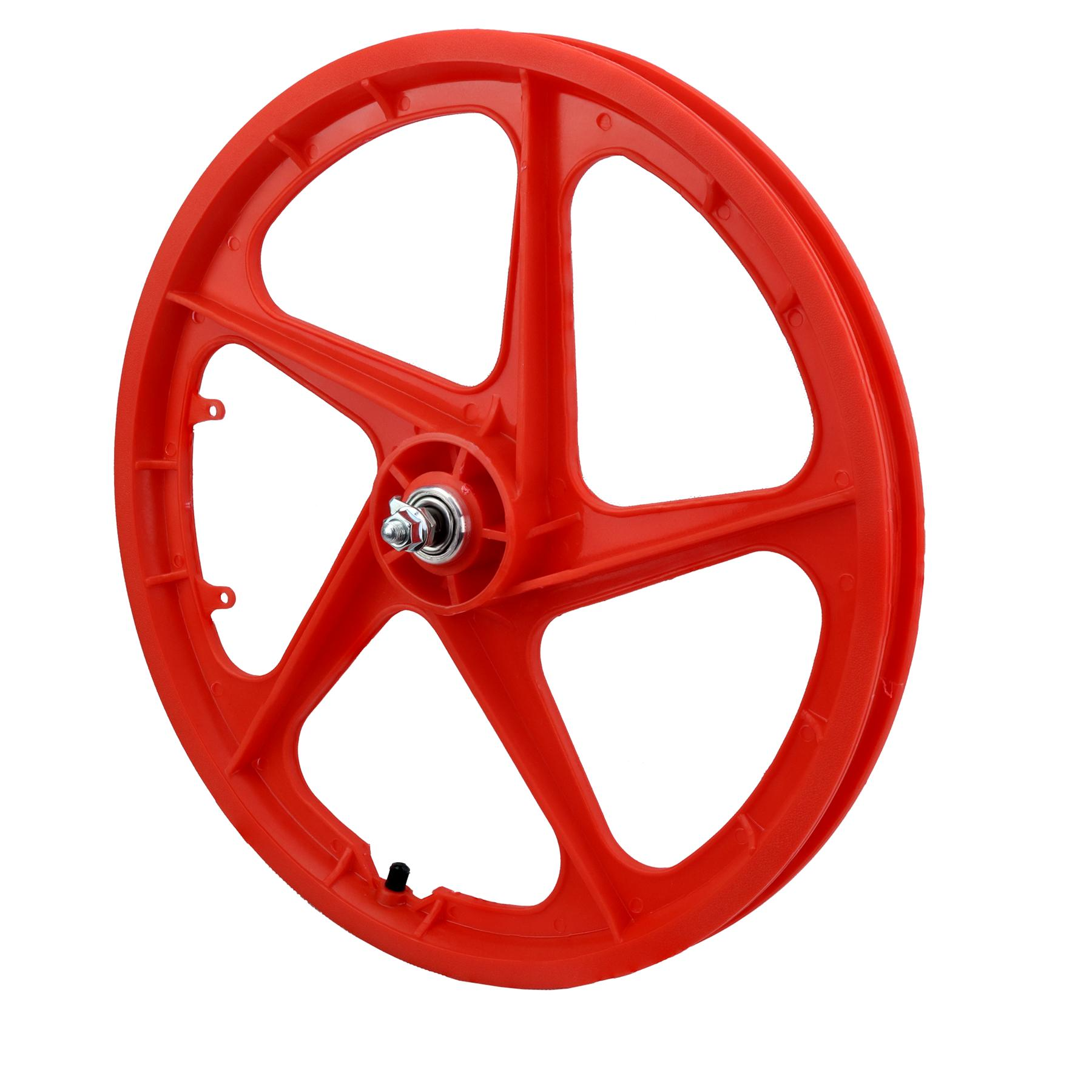 "20"" Front Aero 5 ""RED"" BMX 5 Spoke Mag Nylon wheel in Aero 20B"