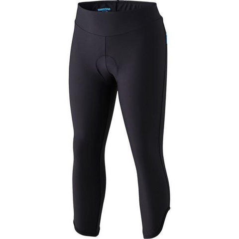 Shimano Women's, 3/4 Tights Shimano, Black, X Large