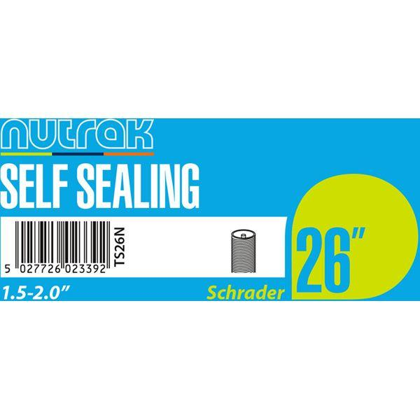 Nutrak 26 x 1.5 - 2.0 inch Schrader - self-sealing inner tube