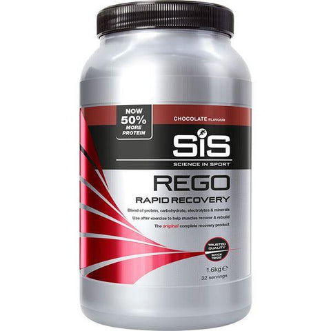 Science In Sport REGO Rapid Recovery drink powder - 1.6 kg tub - chocolate
