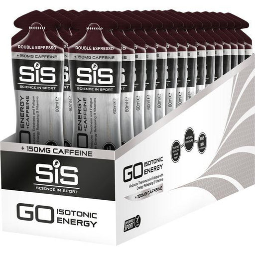 Science In Sport GO Energy + Caffeine Gel - double expresso 150 mg - 60 ml tube - box of 30