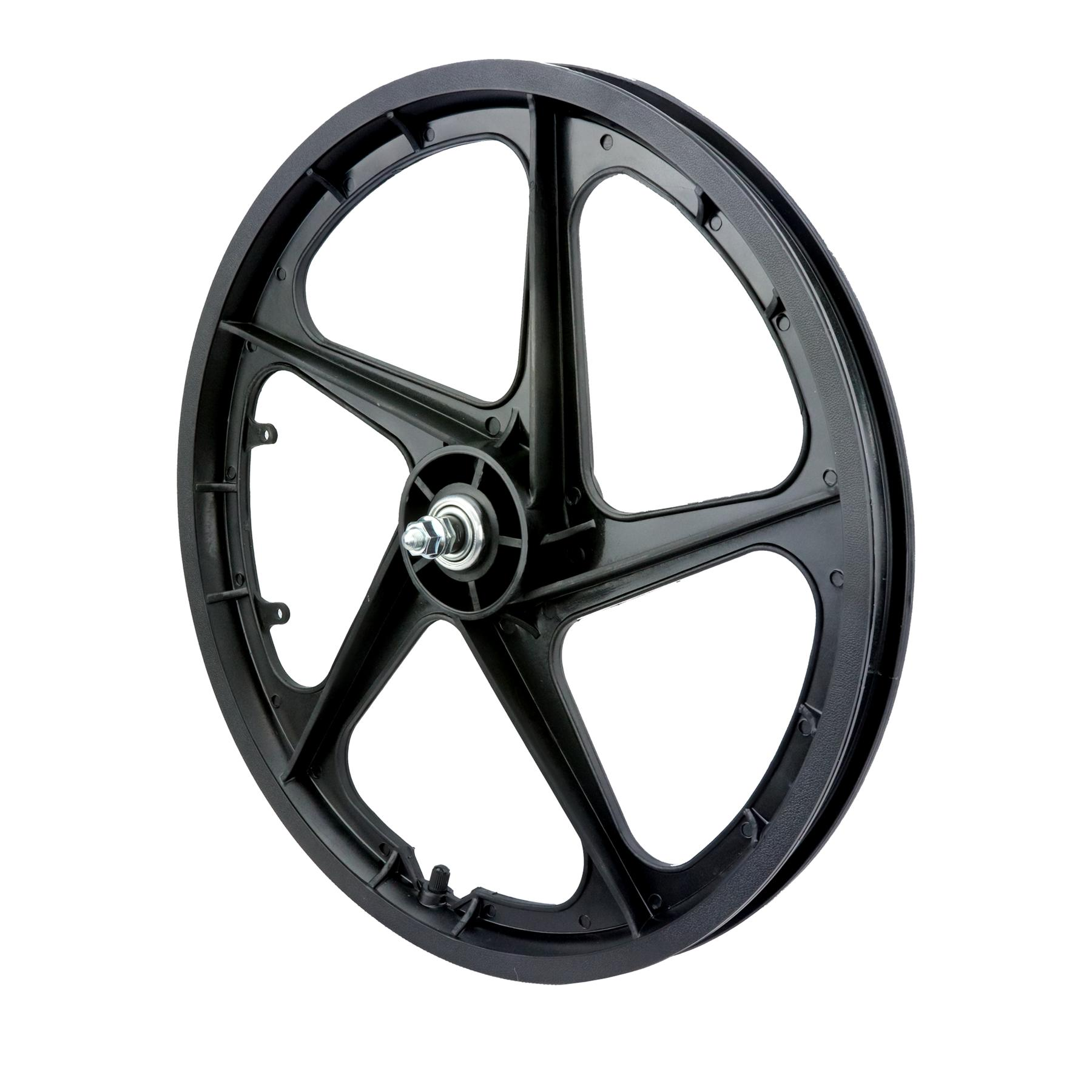 "20"" Front Aero 5 ""BLACK"" BMX 5 Spoke Mag Nylon wheel Aero 5 20B"