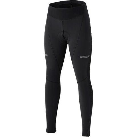 Shimano Clothing Women's Wind Tights, Black, Size XL