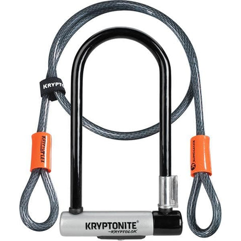 Kryptonite KryptoLok Standard U-lock with 4 foot Kryptoflex cable