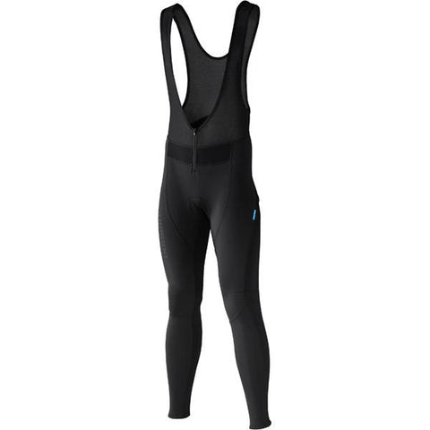 Shimano Men's Performance Windbreak Bib Long Tights, Black, Small