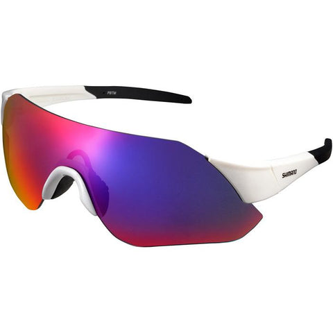 Shimano Aerolite Glasses - Metalic White - Smoke Red Lense