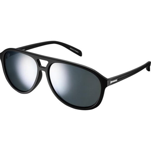 Shimano Meteor Glasses - Matte Black - Smoke Silver Mirror