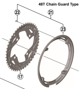 Shimano FC-T4060 chain guard and fixing screws