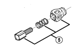 Shimano RD-9000 cable adjusting bolt unit
