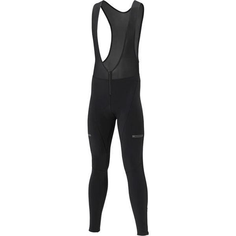 Shimano Clothing Men's Wind Bib Tights, Black, Size S