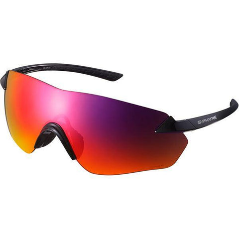 Shimano S-PHYRE R Glasses, Gloss Black, Polarized Dark Red Lens