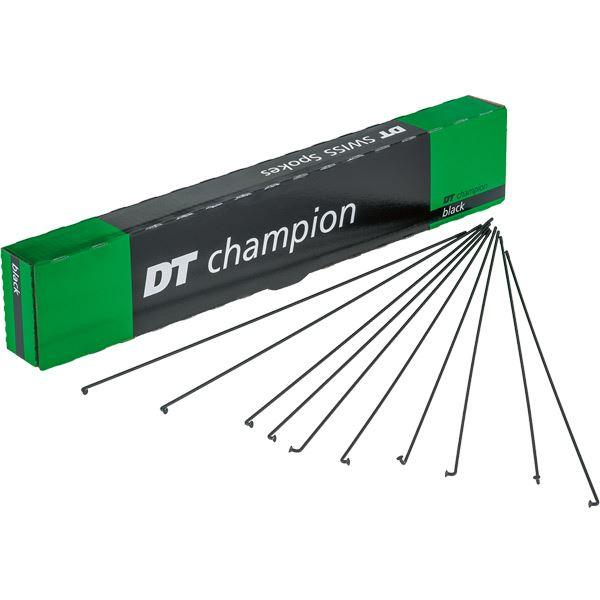 OBS- DT Swiss Champion black spokes 14g = 2mm box 100, 284 mm